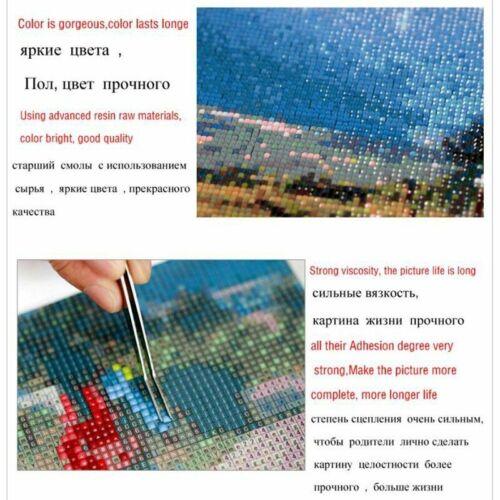 DIY Diamond Painting Cross Stitch Flowers 5D Needlework Mosaic Full Square Drill