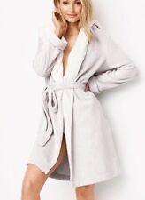 item 2 NWT Victoria s Secret Robe Cozy Sherpa Hooded Short So Silver Gray  M L -NWT Victoria s Secret Robe Cozy Sherpa Hooded Short So Silver Gray M L f61907bf4