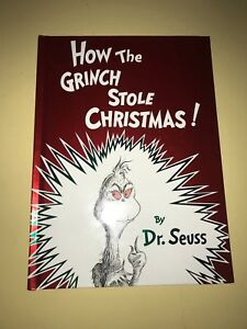 How The Grinch Stole Christmas Book Cover.Details About How The Grinch Stole Christmas Dr Seuss Hard Cover New Misprint Upside Down 97