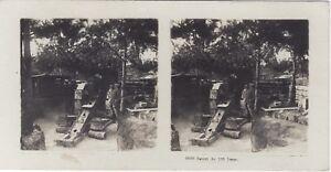 Canon Da 120 Lungo Grande Guerre WW1 Foto Stereo Vintage Analogica