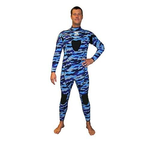 IST Wetsuit w  Gun Pad 2X-Large 3mm bluee Camo  Scuba Dive Freediving Spearfishing  the lowest price