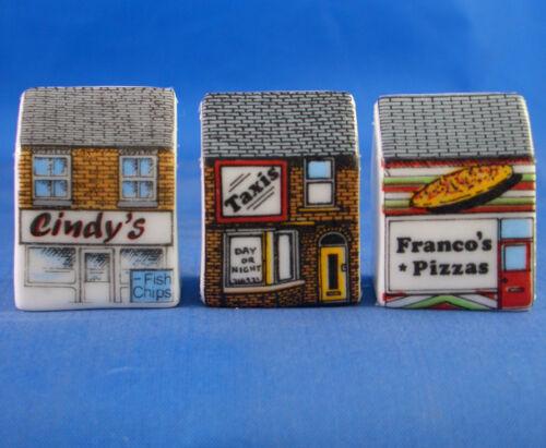 Birchcroft Thimbles Takeaways Set of Three Miniature House Shape
