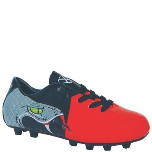 NIB! Red//Black//Gray Kid/'s Vizari Snake Soccer Cleats