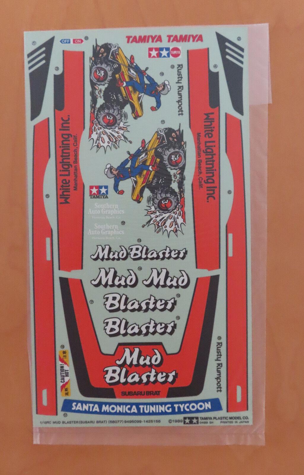 RC Tamiya Decalcomania Mud Blaster 58077 NEU Nuovo con Scatola 1989