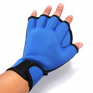 Surfing-Swimming-Diving-Frog-Webbed-Fingerless-Gloves-Swim-Aid-Paddle-Glove