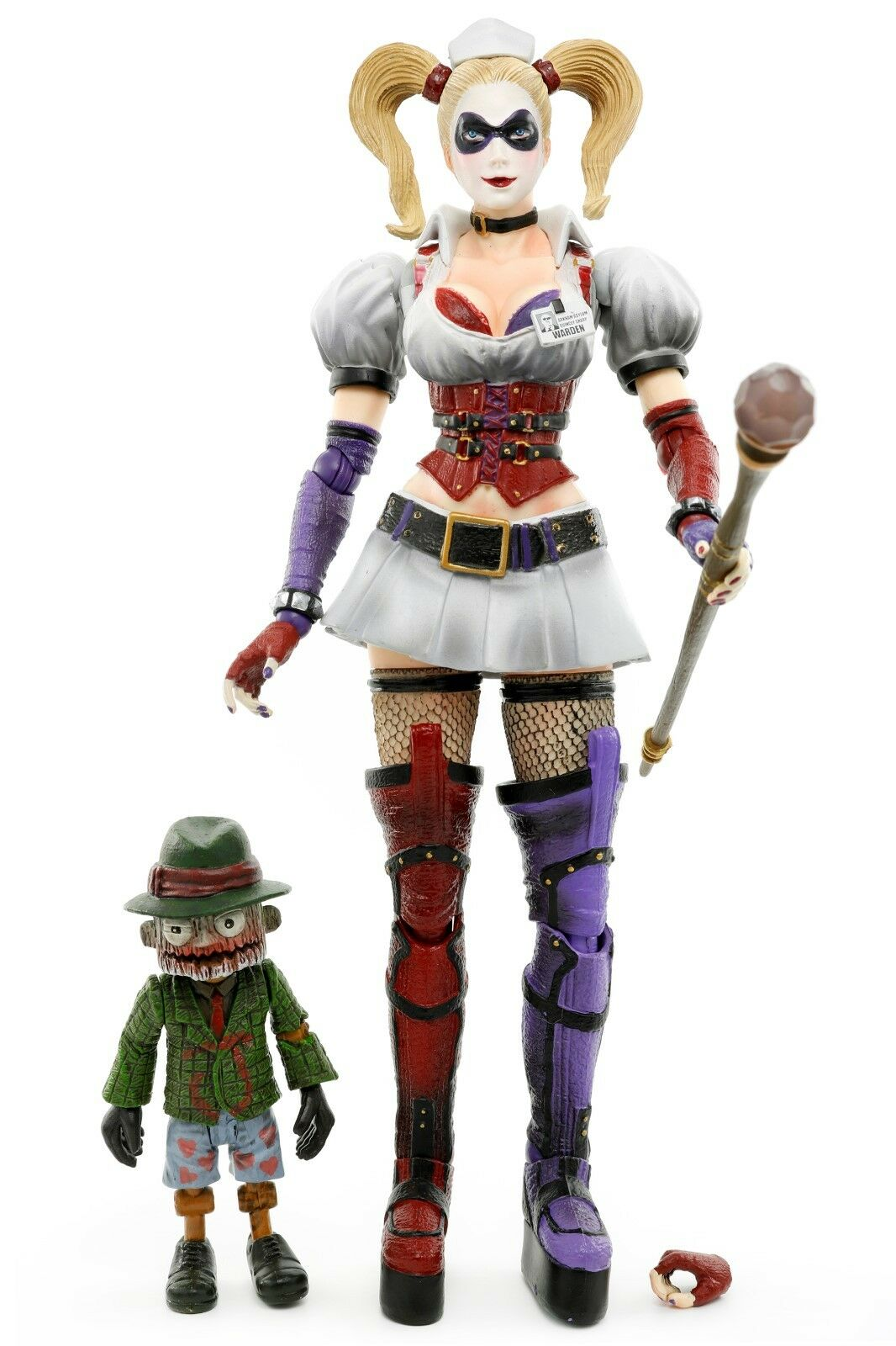 Play Arts Kai Batman Arkham Asylum HARLEY QUINN & SCARFACE 8  Action Figure