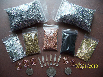 ORGONE MAKING SUPPLIES KIT For 6 Small PYRAMID - PENDANTS Reiki Crystal