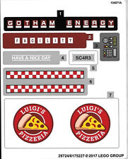 Lego Batman Movie - Scarecrow Special Delivery Pizza Vehicle 70910 STICKER SHEET
