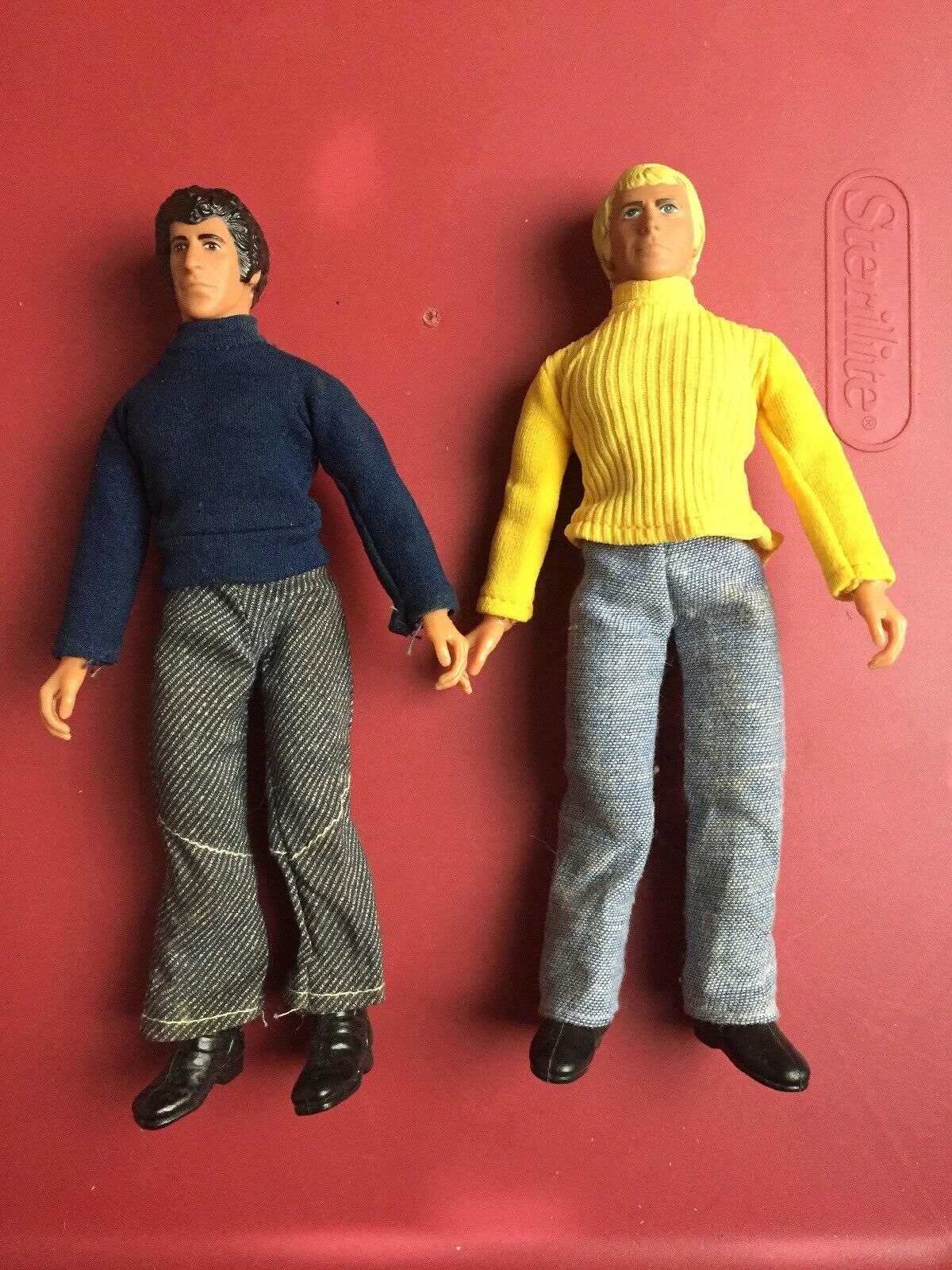 Vintage 1970's Mego estrellacielo e HUTCH 8 azione cifras Jointed bambolas