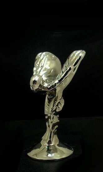 Mascotte. Rolls-Royce Fabulous hood ornament mascotte métal modèle ( argent)
