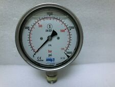 Hughes Jetin 1105582406 High Pressure Gauge 316l 1350bar 20000psiusedusa95398