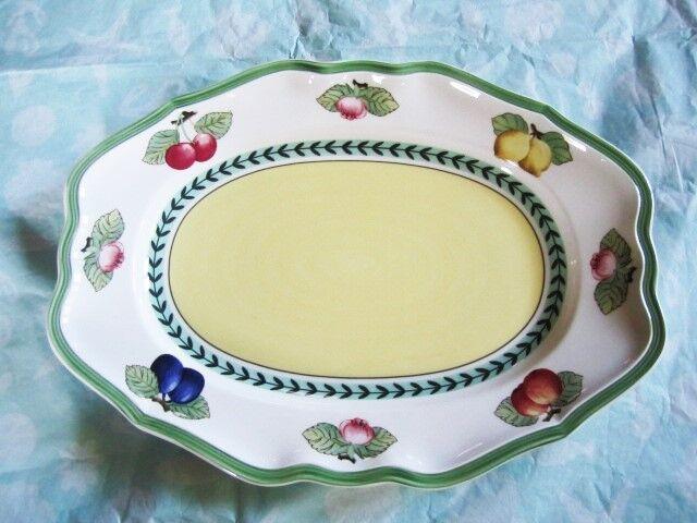 Villeroy Boch French Garden Fleurence Platter 14x10 Germany | EBay