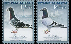 Racing-Pigeons-mnh-two-stamps-2015-Hungary-4338-9-Budapest-34th-Olympiad