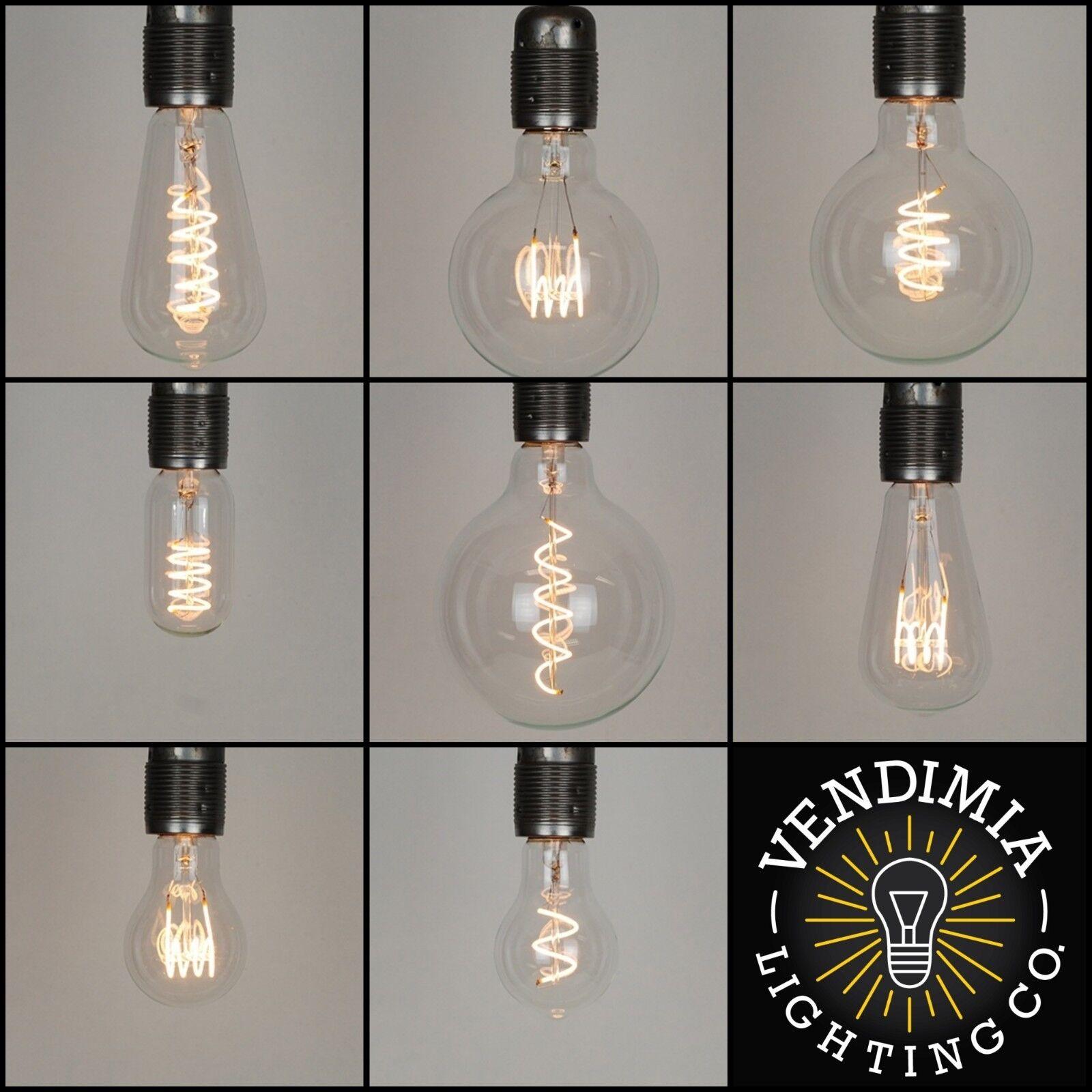 Vintage industrial LED filamento Edison BOMBILLAS E27 ES & B22 Bayoneta