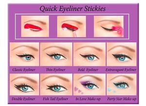 ORIGINAL Quick Eyeliner Stickies Maquillage Autocollant Livraison Gratuite XFR1