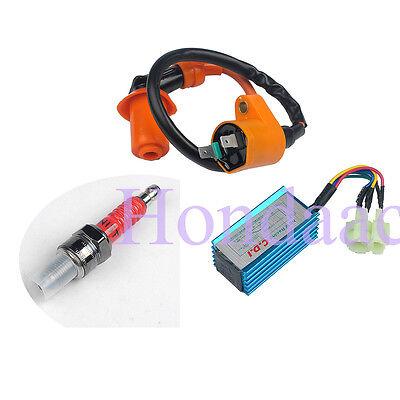Ignition Coil + CDI + Spark Plug Performance For Gy6 50cc-150cc engine USA