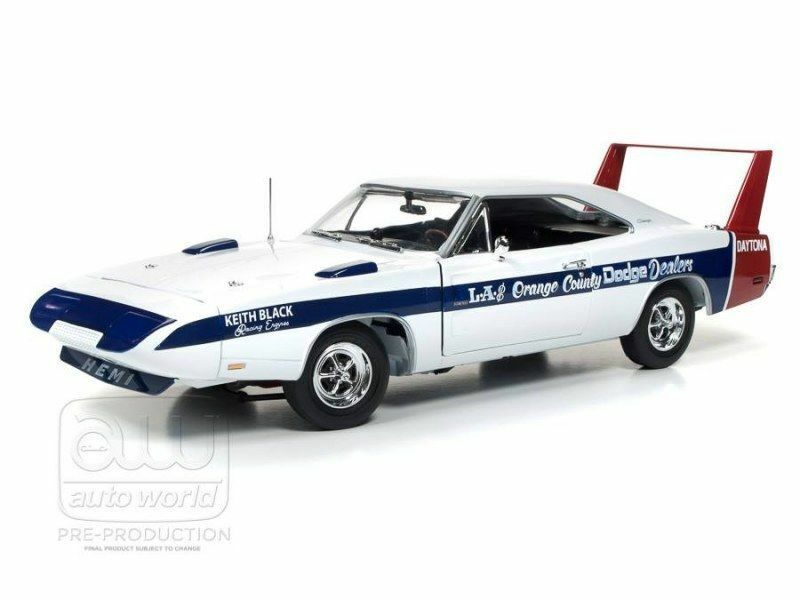 Auto World 1 18 American Muscle 1969 Dodge Charger Daytona voiture culture Edition