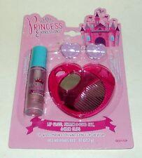 Princess Expressions Lip Gloss, Mirror, Comb Set & Hair Clips NIP