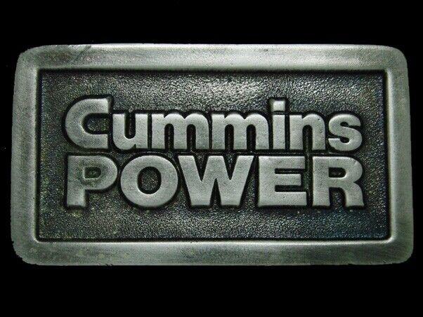 UD05159 *NOS* VINTAGE 1970s **CUMMINS POWER** TRUCK ENGINE ADVERTISEMENT BUCKLE