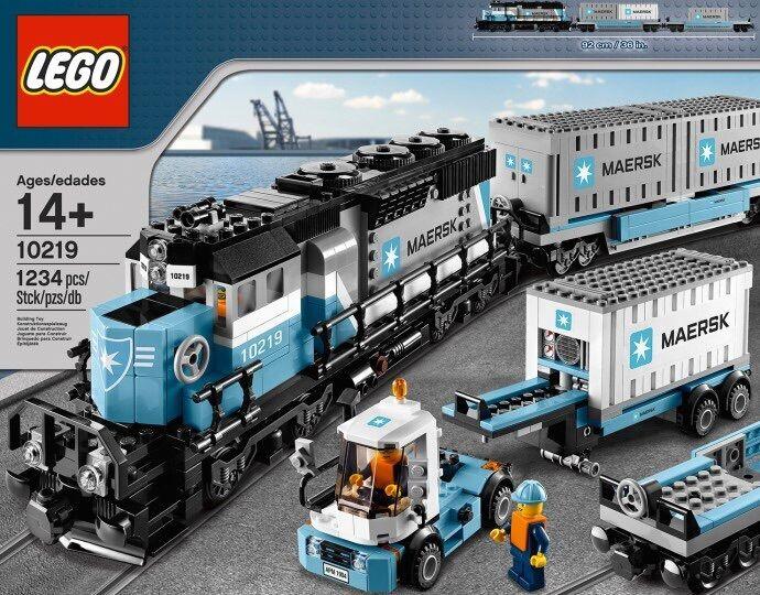 Lego MAERSK tren y camión 10219  totalmente nuevo, sellado, y en Caja Sellada  Envío Rápido
