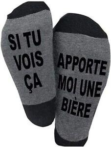 Chaussette Coton Drôle Funny Fantaisie Homme Femme Cadeau Fete Noel Anniversaire