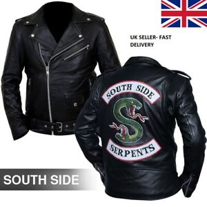 Details zu Southside Serpent Black Riverdale Jughhead jones Snake patch Faux Men's Jacket