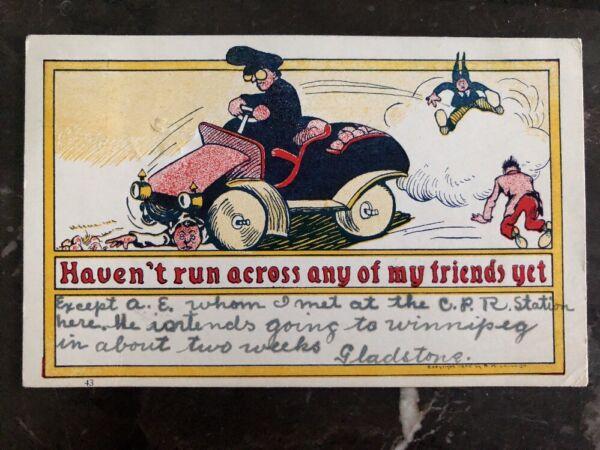 1905 Toronto Canada Comic Postcard Cover Havent Run Across My Friends Yet