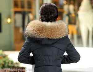 Real-Raccoon-Fur-Collar-Hood-Trimming-Scarf-Natural-Brown-27-6-034-70X20cm