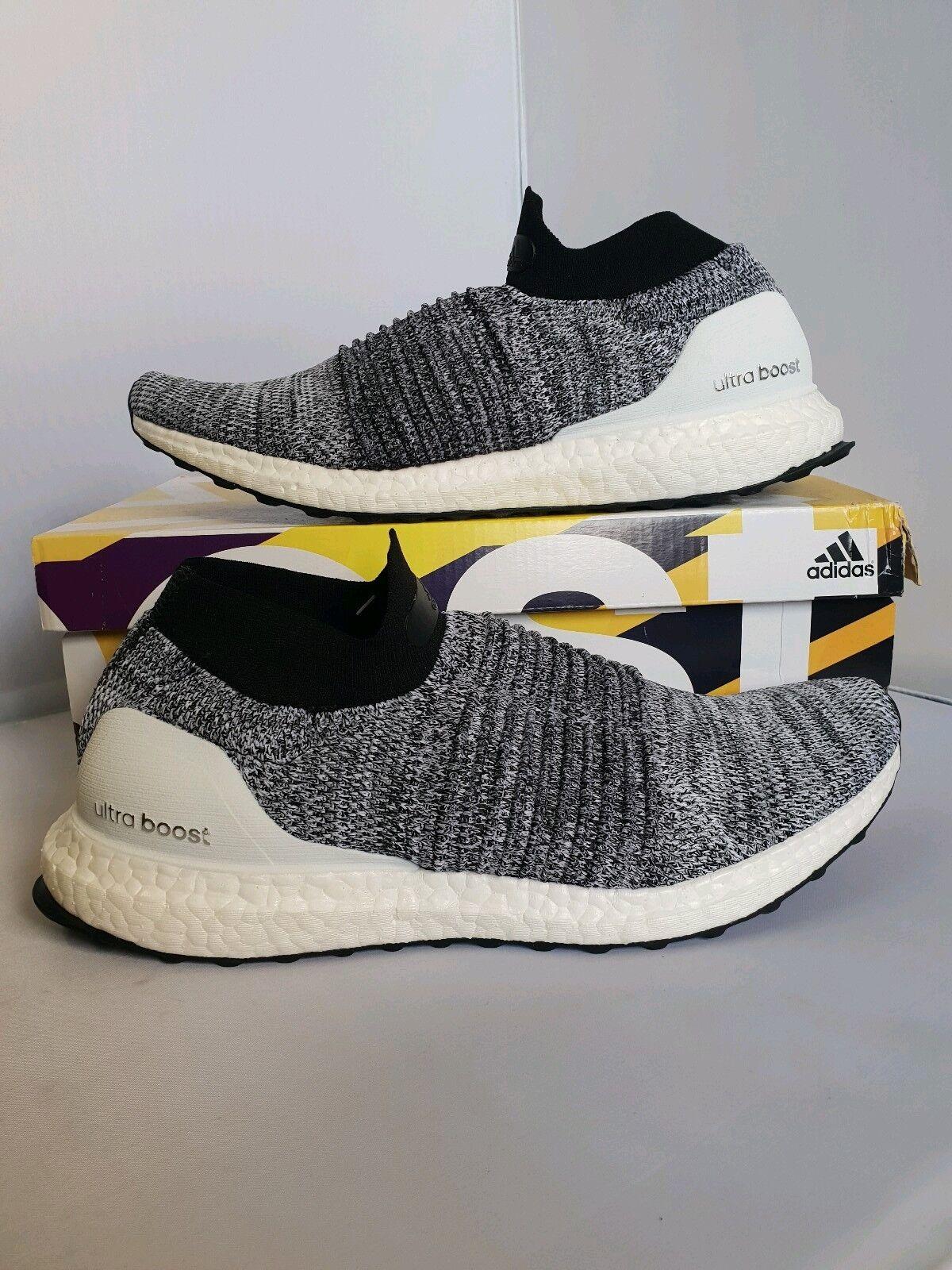 Adidas Ultraboost Laceless Oreo Weiß Weiß schwarz  UK 8.5 US 9 EU 42 2 3  | Auf Verkauf