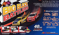AFX Big Block Battler MegaG+ HO Slot Car Set Digital Lap Counter & Tri-Power NEW