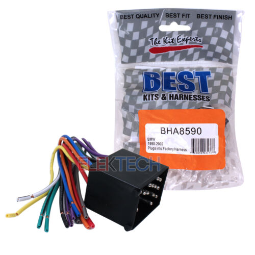 Aftermarket Radio Replacement Installation Wire Harness Cable for BMW BHA8590