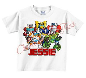 Transformers rescue bots custom t shirt personalize for Custom t shirts add photo