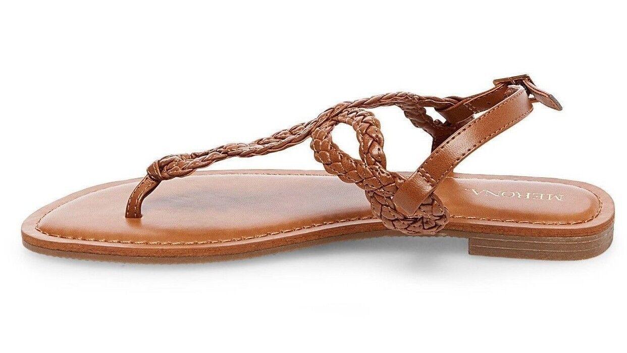3b0094135449 Merona Women s Cognac Jana Quarter Strap Sandals Sizes 8 for sale online