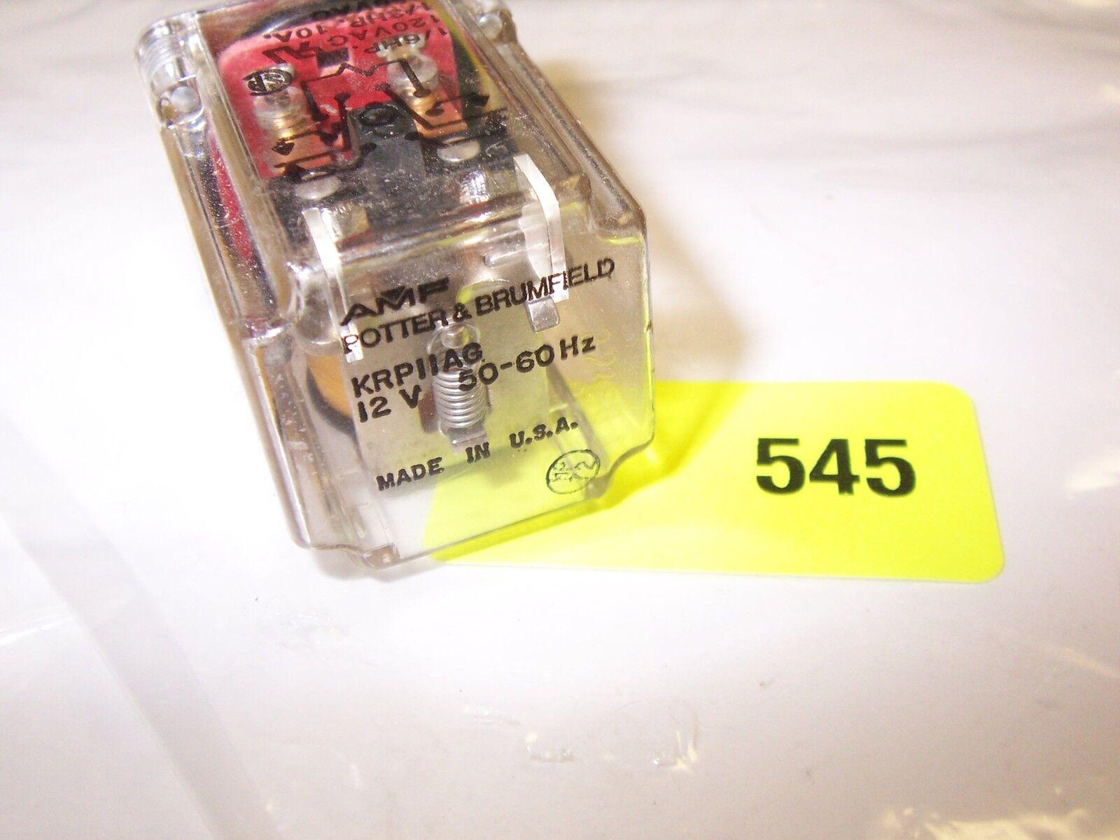 POTTER BRUMFIELD KRP11AG 12 V 50-60HZ RELAY