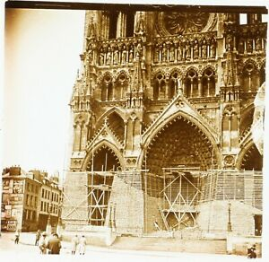 FRANCE-Amiens-Cathedrale-Notre-Dame-Photo-Stereo-Plaque-Verre-VR2L5n6
