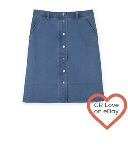CR-LOVE-SZ-L-14-NEW-TRENERY-BY-COUNTRY-ROAD-CHAMBRAY-SKIRT-DENIM