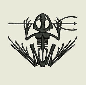 96bb308d2dfb6 Image is loading US-NAVY-SEAL-Bone-Skeletal-Frog-Custom-Embroidered-