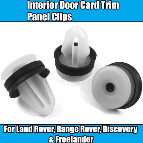 10x Clips Pour Land Range Rover Freelander Porte Carte Garniture Panneau Plastique Blanc
