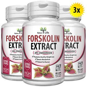 3-x-BOTTLES-180-Capsules-2000mg-Daily-FORSKOLIN-Pure-Coleus-Forskohlii-extract