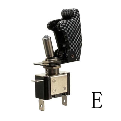 Kippschalter LED beleuchtet mit Schutzkappe Carbon EIN//AUS 12V//20A KFZ-Boot NEU