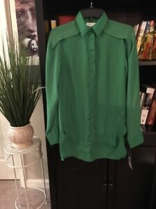 3-1-PHILLIP-LIM-for-Target-Women-039-s-Size-XS-Green-Polyester-blouse-shirt-NEW-C8
