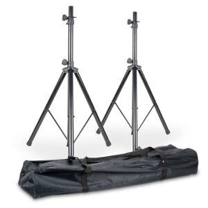 American-DJ-SPSX2B-double-SPS1-B-Heavy-Duty-Speaker-Stands-avec-sac-de-transport-colis