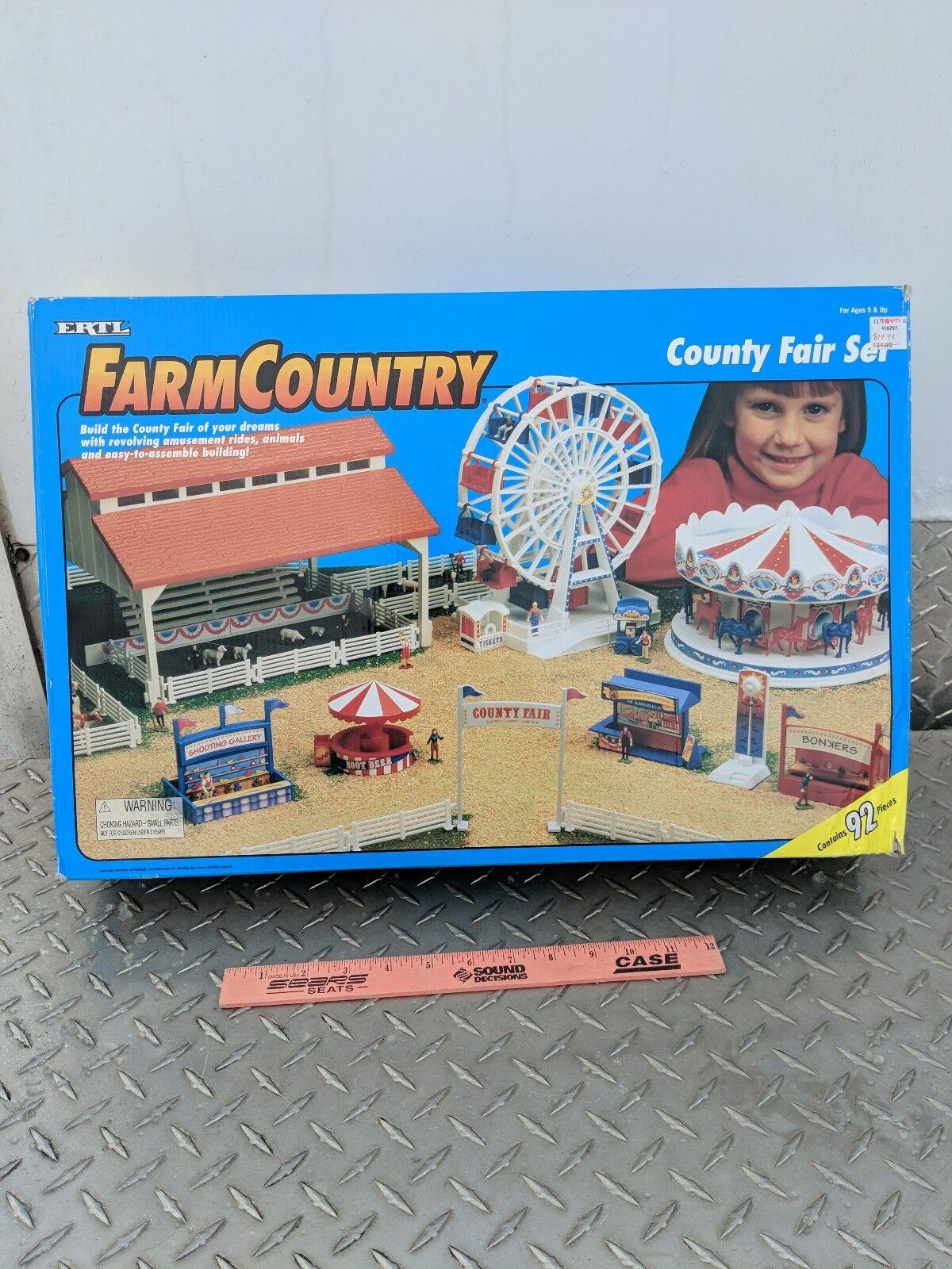1 64 ERTL farm country County Fair Set Playset S échelle Difficile à trouver Neuf Scellé EX figures