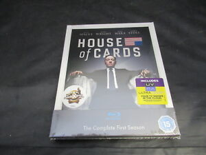 Blu-Ray-Boxset-House-of-Cards-The-Complete-First-Season-1-One-Brand-New-Sealed