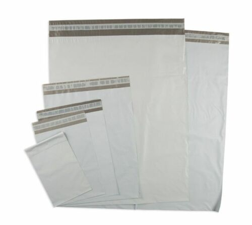 Quality 6x9 Poly Mailers Plastic Envelopes Shipping Bags 2.5Mil White A+