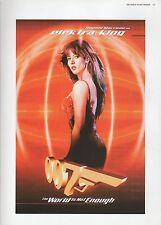 """2002 Vintage JAMES BOND """"SOPHIE MARCEAU AS ELEKTRA"""" MINI POSTER ART Lithograph"""