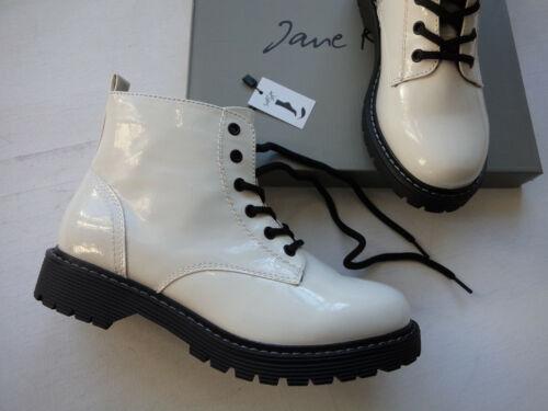 NEU Jane Klain Boot´s Stiefelette in weiß Lack soft Ausstattung Größe 37 39
