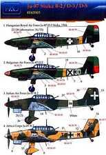 Hungarian Aero Decals 1/72 JUNKERS Ju-87B Ju-87D German Dive Bomber