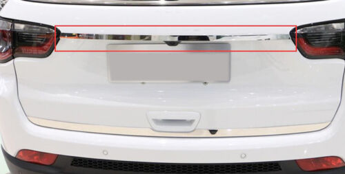 2017 2018 For Jeep Compass Rear Trunk Lid Cover Strip Molding Trim Steel 1 pcs