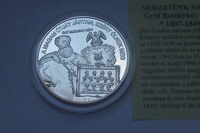 silver coin//medal King Saint Stephen 5500 pcs Hungary PP UNC Szent István